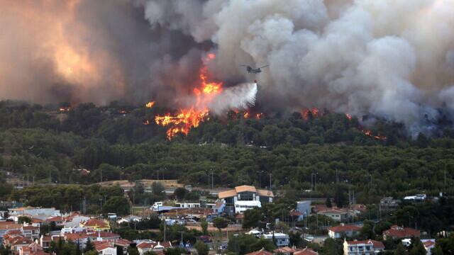 Teroare în Atena. Mai multe case au ars, două suburbii au fost evacuate. Valul de căldură a atins cote maxime - Imaginea 6