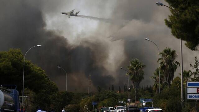 Teroare în Atena. Mai multe case au ars, două suburbii au fost evacuate. Valul de căldură a atins cote maxime - Imaginea 8