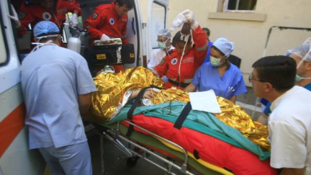 Barbatul a fost transportat la spital