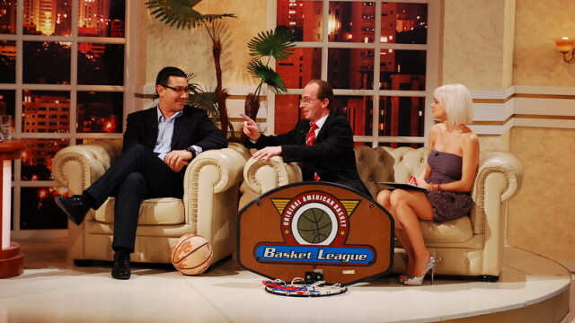 Victor Ponta joaca baschet la