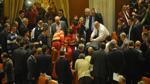 Incident in Parlament