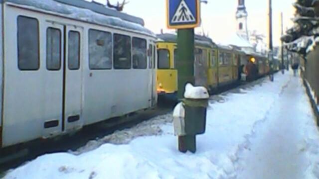 tramvaie blocate,arad