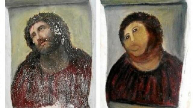 fresca, Iisus, restaurata de Celia Gimenez