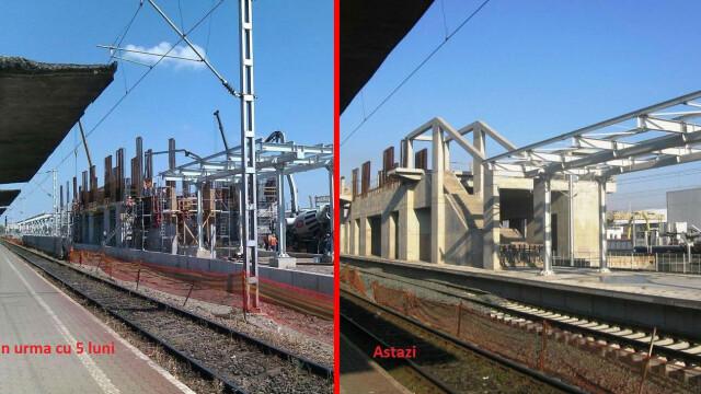 Se lucreaza in ritm de melc la noua pasarela din Gara Arad. Termenul limita nu poate fi respectat - Imaginea 1