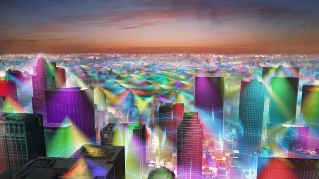 Cum ar arata lumea daca ai putea vedea semnalul telefoanelor mobile. GALERIE FOTO - Imaginea 2