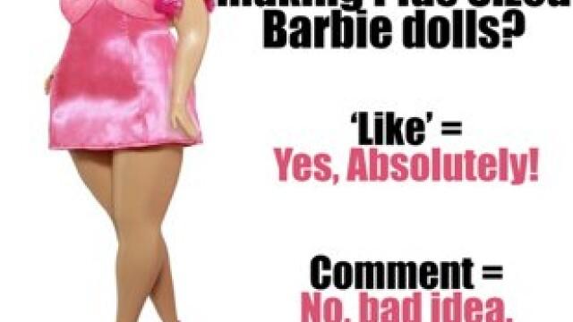Firmele de jucarii ar putea sa produca papusi Barbie supraponderale. Cum a fost primita ideea - Imaginea 3