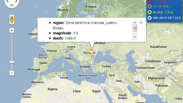 Cutremur de 3,9 grade in zona Vrancea inregistrat duminica seara