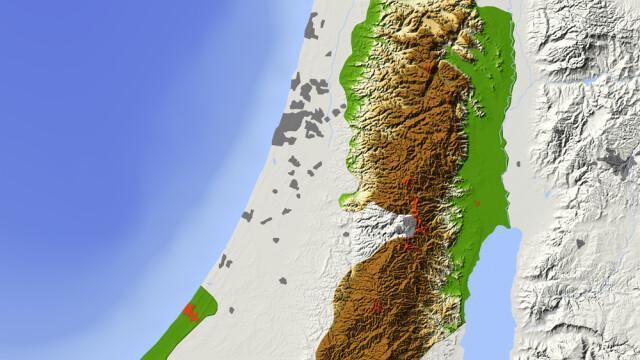 Palestina, harta