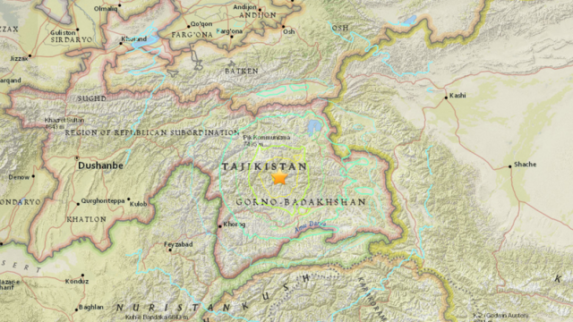 cutremur in Tadjikistan