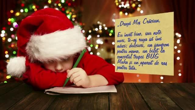 Scrisori catre Mos Craciun, adunate de la cei mici si raspandite pe Facebook. Oamenii care transforma vise in realitate