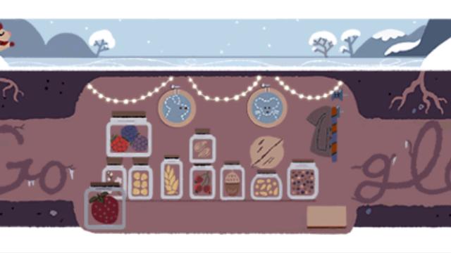 Solstițiul de iarnă 2017. Google sărbătorește solstițiul de iarnă printr-un Doodle