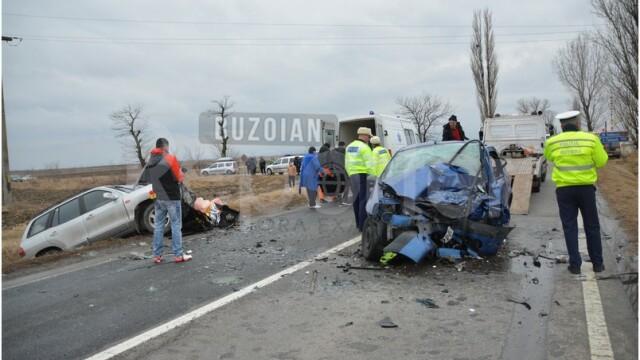 Accident grav la ieşirea din Buzău: un om a murit şi 3 sunt răniţi