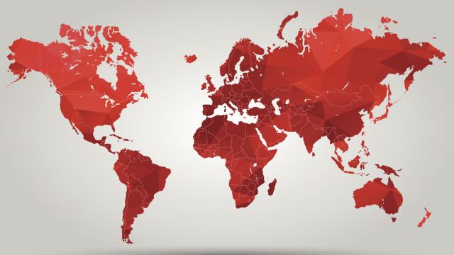 harta tarilor cu rosu
