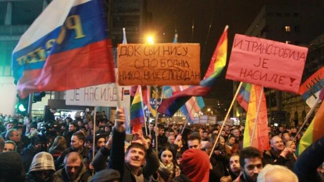 Protest la Belgrad