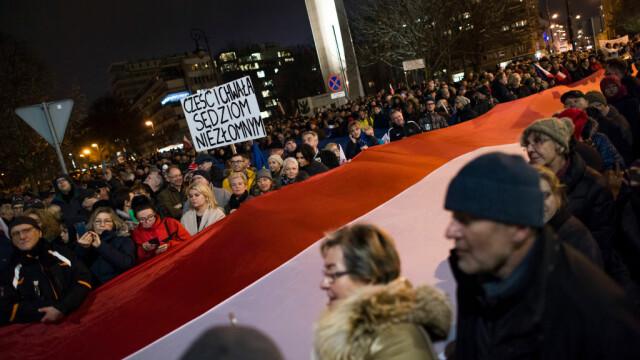 Proteste masive în Polonia. Mii de oameni, în stradă din cauza reformelor din justiție - Imaginea 4