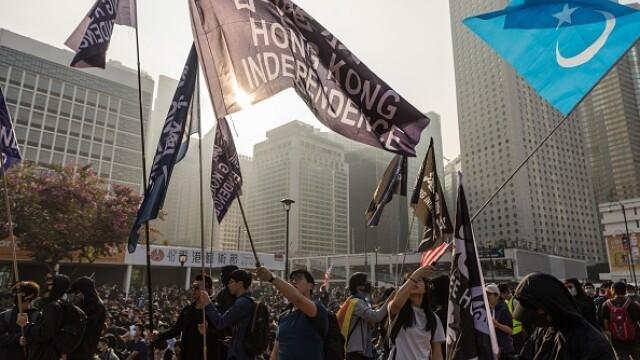 Violențe în Hong Kong, după o manifestaţie în sprijinul uigurilor din China - Imaginea 5