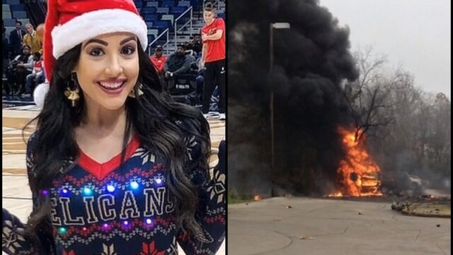 Prezentatoare TV moartă după ce un avion s-a prăbușit într-o parcare și a luat foc - Imaginea 1