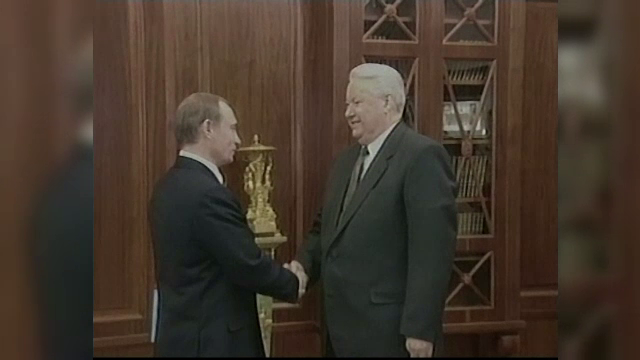Vladimir Putin și Boris Elțîn