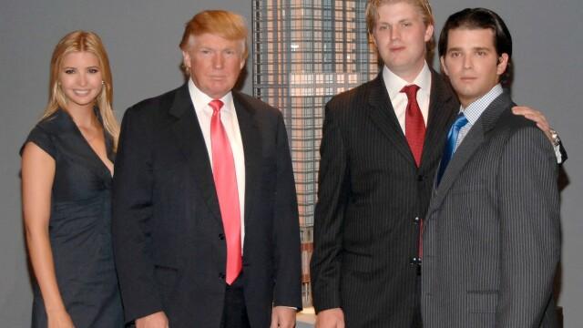 Ivanka Trump, Donald Trump, Eric Trump și Donald Trump Jr