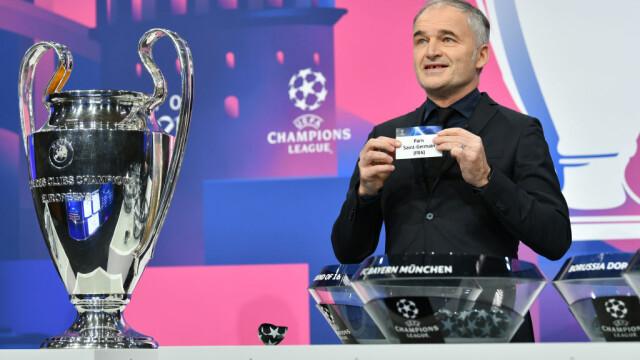 S-au tras la sorți meciurile din optimile Ligii Campionilor. Barcelona - PSG, cap de afiș