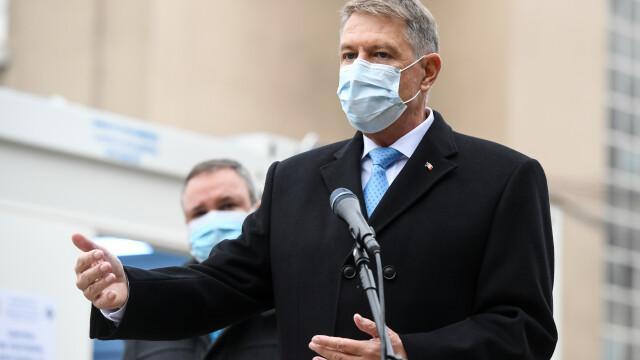 """Klaus Iohannis: """"Perspectiva rapidă a unui vaccin ne dă astăzi speranţe"""""""