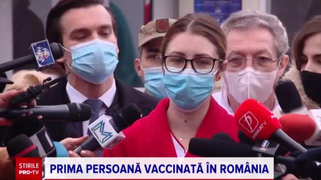"""Prima persoană din România vaccinată împotriva COVID: """"Nu a durut absolut deloc"""""""