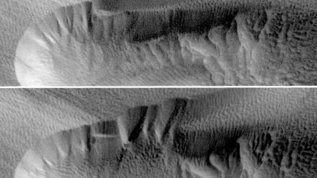 Avalansa pe Marte. Marea de nisip se misca exact ca pe Terra - Imaginea 1