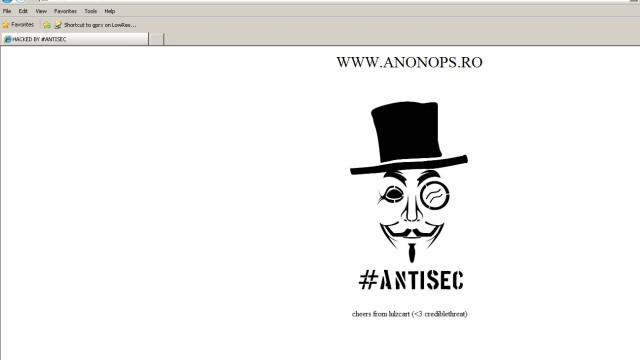 Anonymous a spart site-ul FMI Romania si acuza Guvernul ca foloseste software PIRATAT - Imaginea 1
