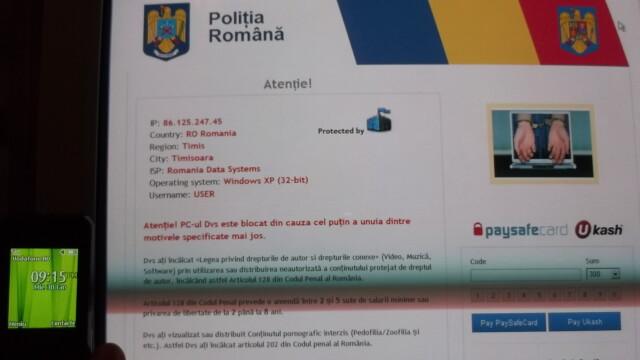 "Virusul ""Politia Romana"" face ravagii pe internet. Va cere bani si va blocheaza calculatorul - Imaginea 2"