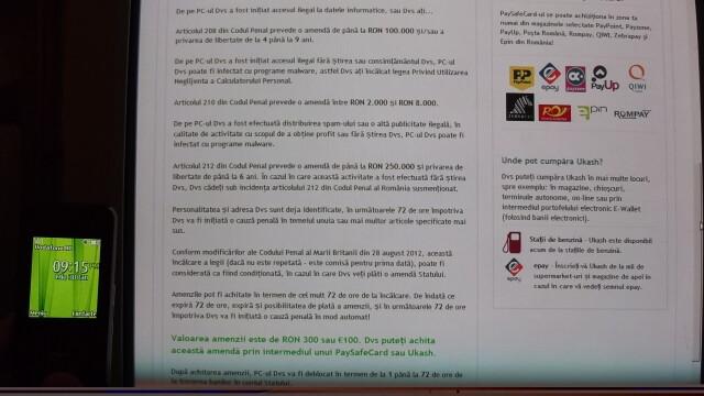 "Virusul ""Politia Romana"" face ravagii pe internet. Va cere bani si va blocheaza calculatorul - Imaginea 3"