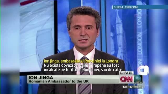 Ambasadorul Romaniei la Londra, Ion Jinga, interviu in limba engleza la CNN. Cum s-a descurcat.VIDEO