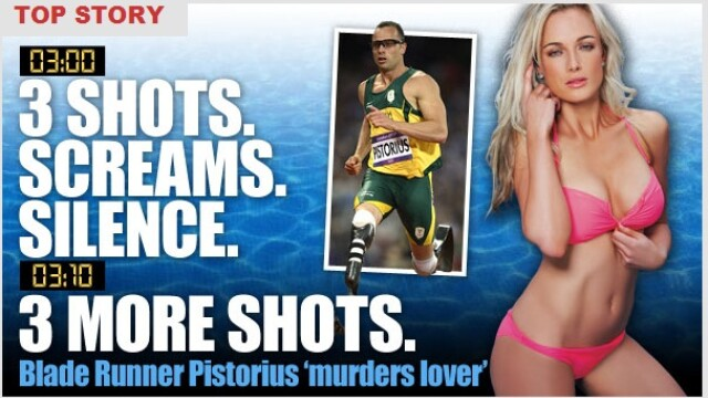 Cazul Oscar Pistorius: Impuscaturi la 3 dimineata, 10 minute de liniste si apoi iar impuscaturi - Imaginea 1