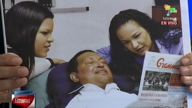 Guvernul din Venezuela a difuzat primele imagini cu Hugo Chavez pe patul de spital - Imaginea 3