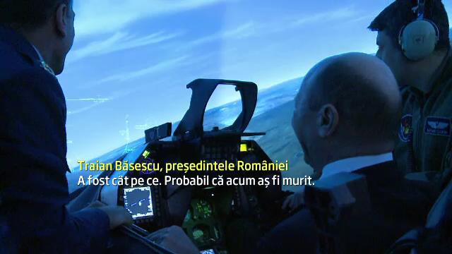 Avionul pilotat de Traian Basescu, atacat de inamici. Cum a decurs zborul Presedintelui in simulator