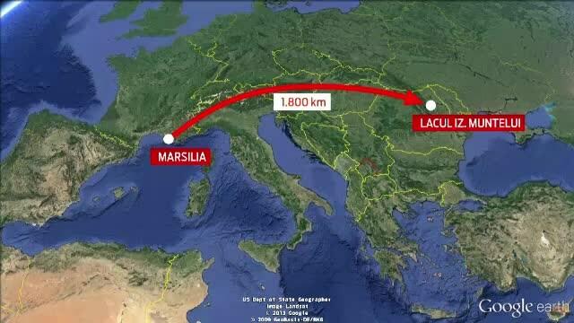 ISU Neamt si Romatsa dau vina pe satelit dupa ce au plecat sa salveze din Izvorul Muntelui o barca esuata pe Coasta de Azur