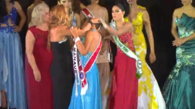 Paruiala in toata regula la un concurs de Miss. Cum a reactionat ocupanta locului doi in momentul incoronarii - VIDEO