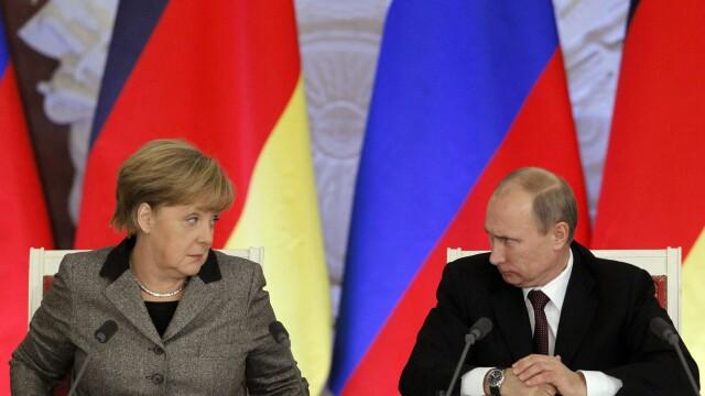 Merkel, Hollande, Porosenko si Putin propun un plan de pace miercuri, la Minsk. Ce au discutat cei patru la telefon duminica