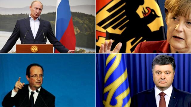 Summitul Putin-Porosenko-Merkel-Hollande, ultima sansa de pace in Ucraina. Politicieni, soldati si analisti mizeaza pe RAZBOI