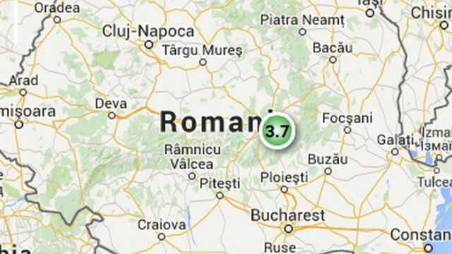 Trei cutremure s-au produs vineri in Romania, in trei judete. Cel mai mare a avut magnitudinea 3,5 pe scara Richter