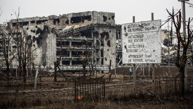 Apocalipsa din estul Ucrainei. Peisajul dezolant din Donetk aduce aminte de sfarsitul celui de-Al Doilea Razboi Mondial. FOTO - Imaginea 6