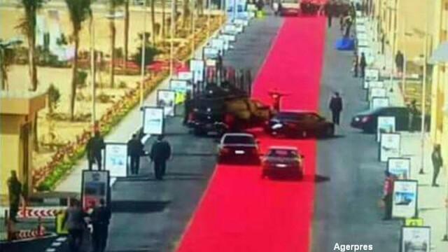 Covor rosu de patru kilometri si coloana oficiala, la inaugurarea unui camin pentru persoanele sarmane