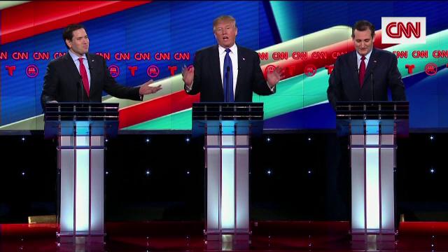 Dezbaterea dintre candidatii republicani, transformata intr-o cearta ca la usa cortului. Trump: \