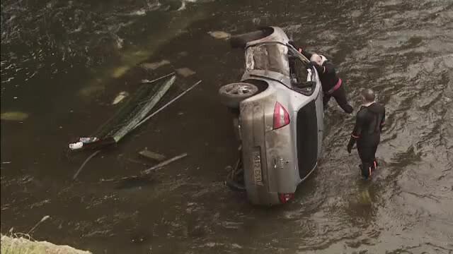 masina cazuta in Dambovita