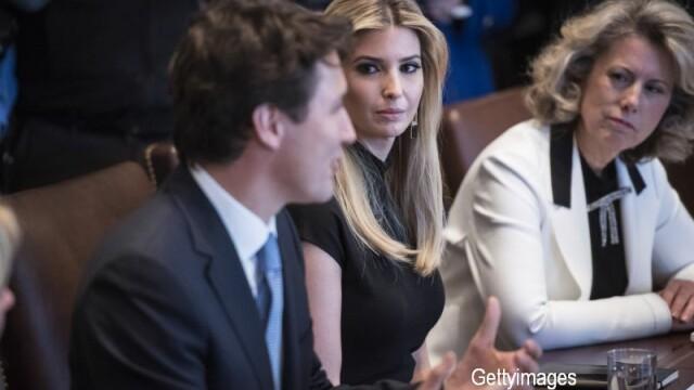 Ivanka Trump, ironizata pe Twitter din cauza modului in care a fost surprinsa uitandu-se la prim-ministrul Justin Trudeau