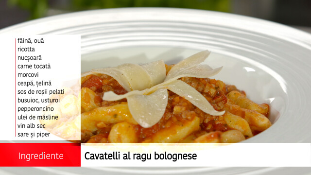 Cavatelli al ragu bolognese