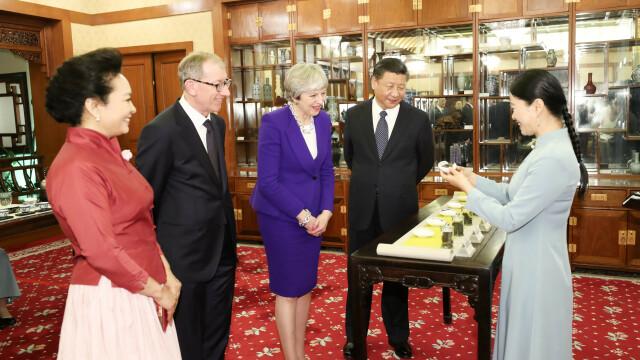 Theresa May, Xi Jinping