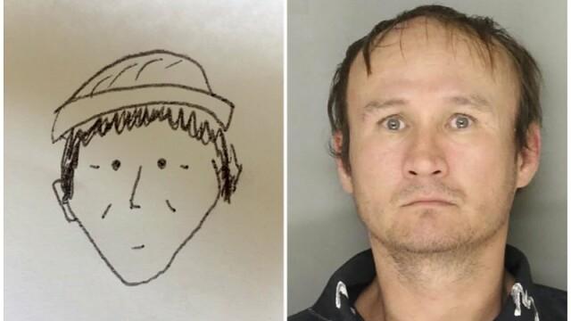 Detaliul dintr-un desen care a condus la prinderea unui suspect de furt