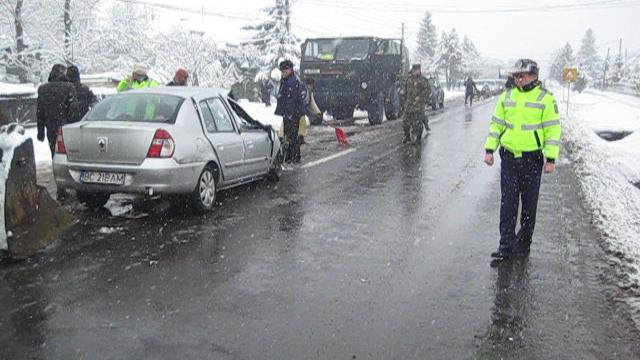 Accident camion militar