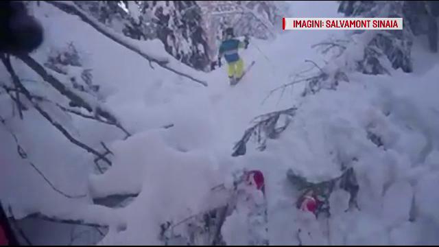Trei schiori, recuperați de salvamontiști după ce s-au rătăcit în Bucegi