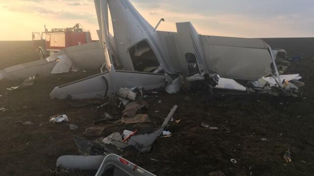 Un avion de mici dimensiuni s-a prăbușit. Pilotul a supraviețuit, dar elevul său nu - Imaginea 1